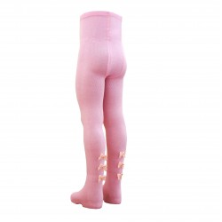 Puošnios rožinės pėdklenės vaikams Kaspinėliai