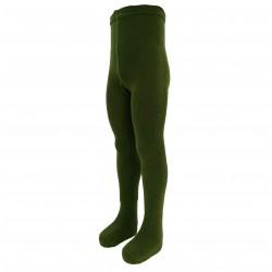 Žalios vienspalvės pėdkelnės vaikams Tamsi chaki