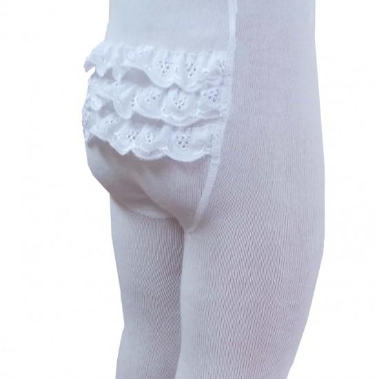 Puošnios baltos pėdklenės vaikams Mezginėliai