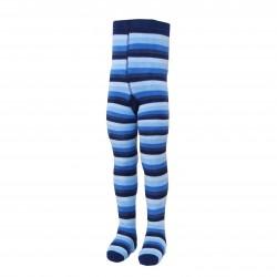 Gumuotais padukais šiltos pliušinės pėdkelnės vaikams tamsiai mėlynas Drambliukas