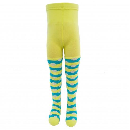 Šiltos pėdkelnės vaikams pliušinėmis kojytėmis Geltonas aštuonkojis