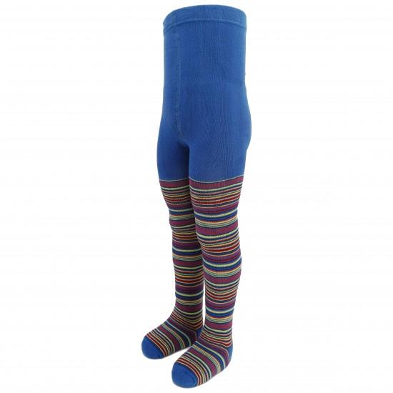 Šiltos pliušinės pėdkelnės vaikams Mėlynos juostelės