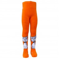 Šiltos pliušinės pėdkelnės vaikams Oranžinis katinėlis