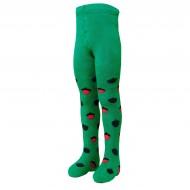 Šiltos pliušinės pėdkelnės vaikams Žalia voverytė