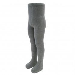 Gumuotais padukais šiltos pliušinės pėdkelnės vaikams Šviesiai pilka