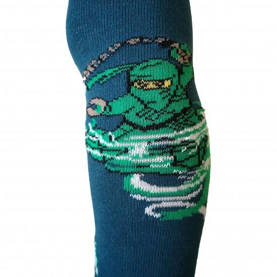 Blankiai mėlynos pėdkelnės vaikams Žalias nindzė