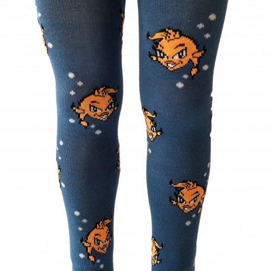 Mėlynos pėdkelnės vaikams Oranžinės žuvytės