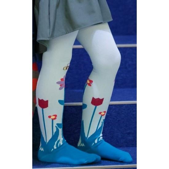 Mėlynos pėdkelnės vaikams Tulpės