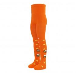 Oranžinės pėdkelnės vaikams Bitutės