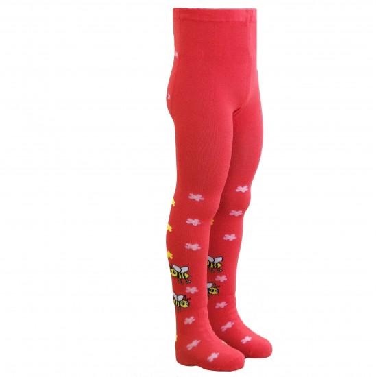 Raudonos pėdkelnės vaikams Bitutės