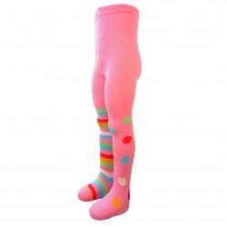 Rožinės pėdkelnės vaikams Skirtingos kojytės