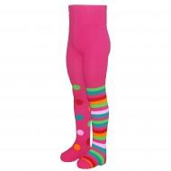 Tamsiai rožinės pėdkelnės vaikams Skirtingos kojytės