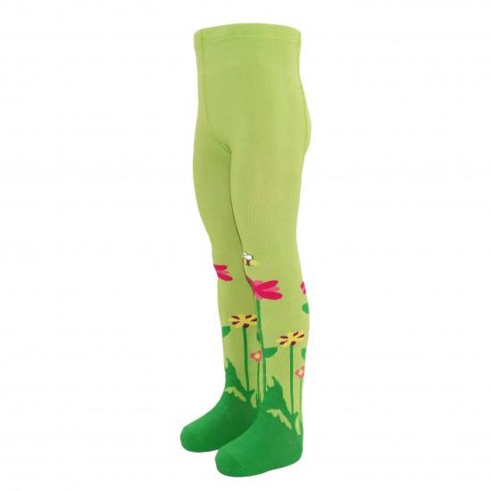 Žalios pėdkelnės vaikams Tulpės