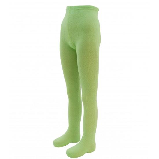 Šiltos 50% Merino vilnos pėdkelnės vaikams Žalias koriukas
