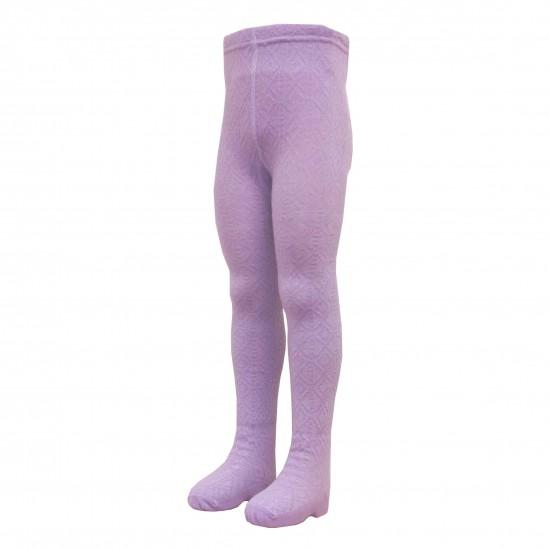 Šiltos 50% Merino vilnos pėdkelnės vaikams Violetinis koriukas