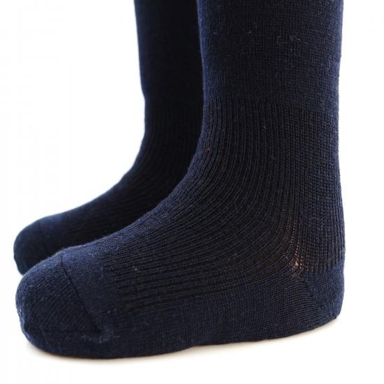 Labai švelnios Extra fine 85% merino vilnos Tamsiai mėlynos pėdkelnės vaikams