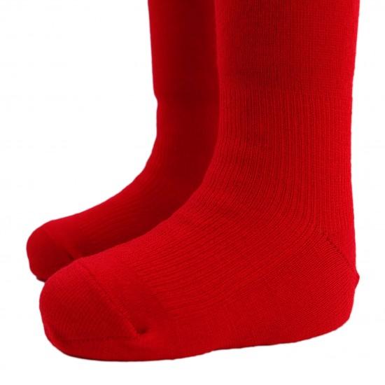 Labai švelnios Extra fine 85% merino vilnos Raudonos pėdkelnės vaikams