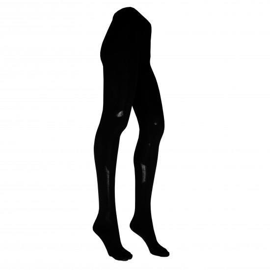 Juodos vienspalvės medvilninės pėdkelnės moterims