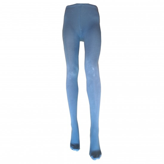 Šviesiai mėlynos vienspalvės medvilninės pėdkelnės moterims