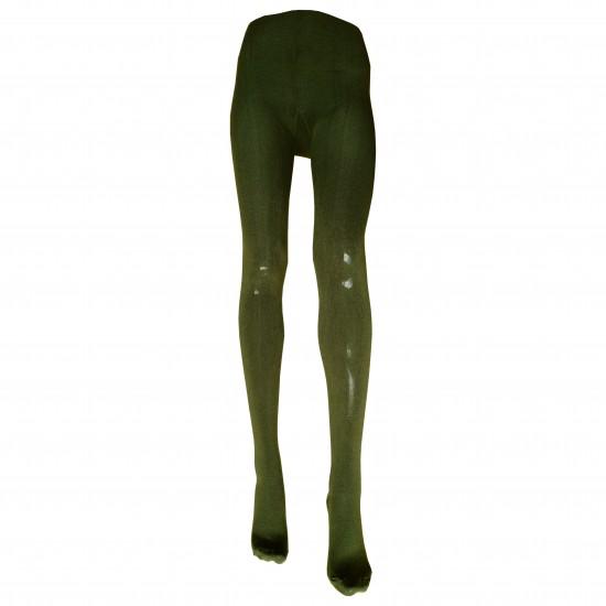 Šiltos Alyvuogių spalvos pėdkelnės su 31% vilna moterims