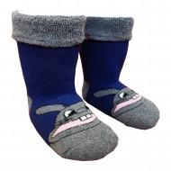 Šiltos pliušinės kojinės mėlynas Zuikis