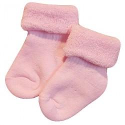 Šiltos pliušinės kojinės Šviesiai rožinė