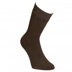 Šiltos pliušinės kojinės ilgesnės Pilkai ruda