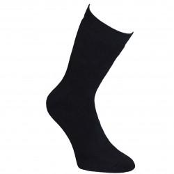 Šiltos pliušinės kojinės ilgesnės Juoda
