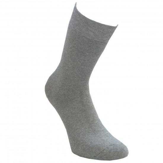 Šiltos pliušinės kojinės ilgesnės Šviesiai pilka