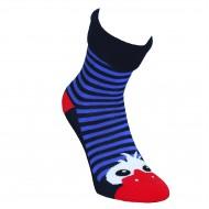Šiltos pliušinės kojinės mėlynos Akutės