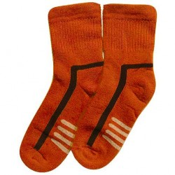 Šiltos pliušinės kojinės oranžiniai Raštai