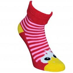 Šiltos pliušinės kojinės raudonos Akutės