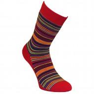 Šiltos pliušinės kojinės raudonos Juostelės