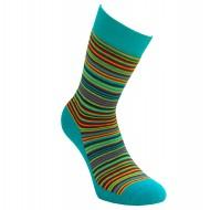 Šiltos pliušinės kojinės turkio spalvos Juostelės