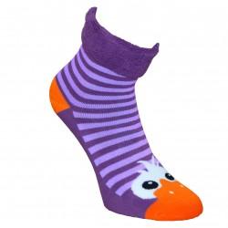 Šiltos pliušinės kojinės violetinės Akutės