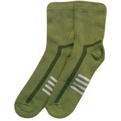 Šiltos pliušinės kojinės žalsvi Raštai