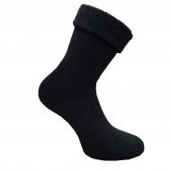 Gumuotais padais šiltos pliušinės kojinės Tamsiai pilka