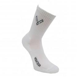Sportinės baltos kojinės pliušiniu padu Vegateksa
