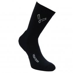 Sportinės juodos kojinės pliušiniu padu Vegateksa