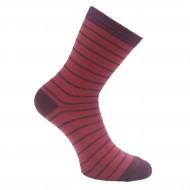 Bordo kojinės Dryželiai su blizgučiu