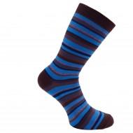 Dryžuotos kojinės Mėlyna ruda