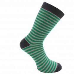 Dryžuotos kojinės Pilka žalia