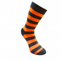 Dryžuotos kojinės Plačios juostos (Tamsiai mėlyna oranžinė)