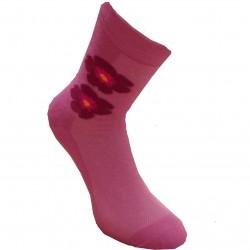 Rožinės kojinės Gėlytė