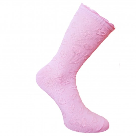 Rožinės kojinės Širdelės