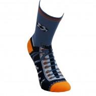 Spalvotos kojinės Futbolininkas (Mėlyna oranžinė)