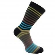 Spalvotos kojinės Smulkios juostelės (Žalia ruda)