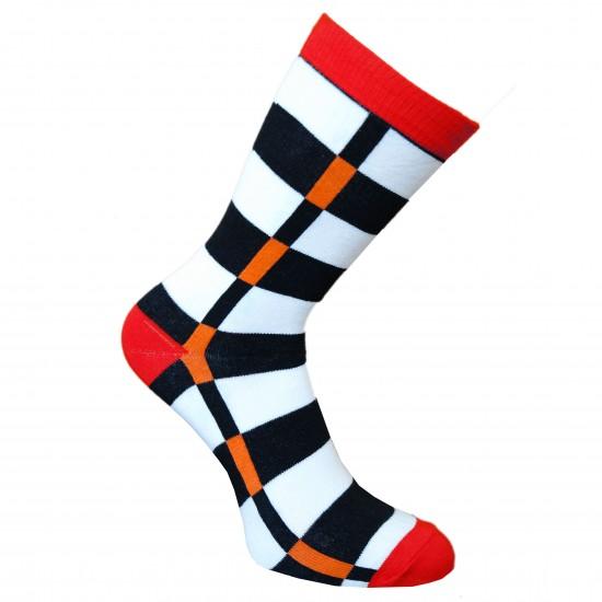 Spalvotos kojinės Žaismingos (Raudona)