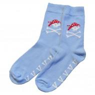 Šviesiai mėlynos kojinės Piratas