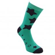 Tamsaus turkio spalvos kojinės Žvaigždėtos